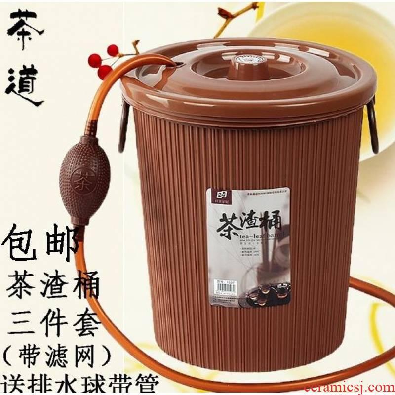 Small tea tea bucket of spam filtering units waste water bucket to pour tea detong tea tray tea bucket detong drains