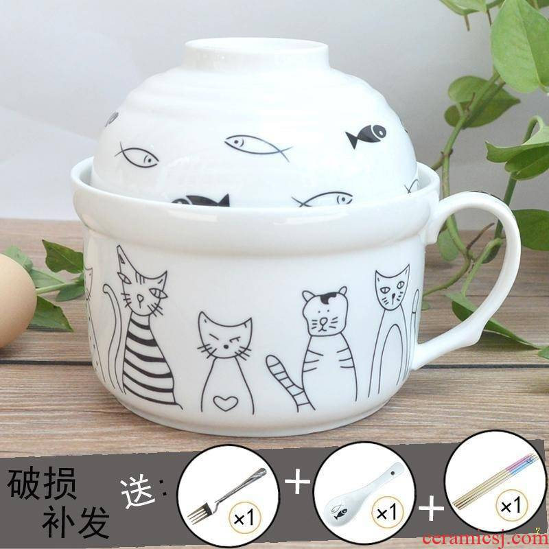 Fe + ceramic tableware cartoon mercifully rainbow such use large capacity with cover microwave lovely dining room dozen rice tao bento lunch box