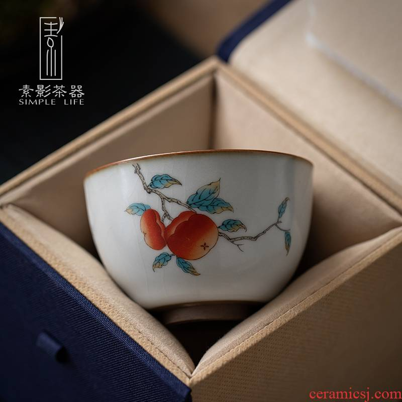 Plain film your up sample tea cup masters cup ceramic cups household kung fu tea tea set single CPU RuTao, coloured drawing or pattern