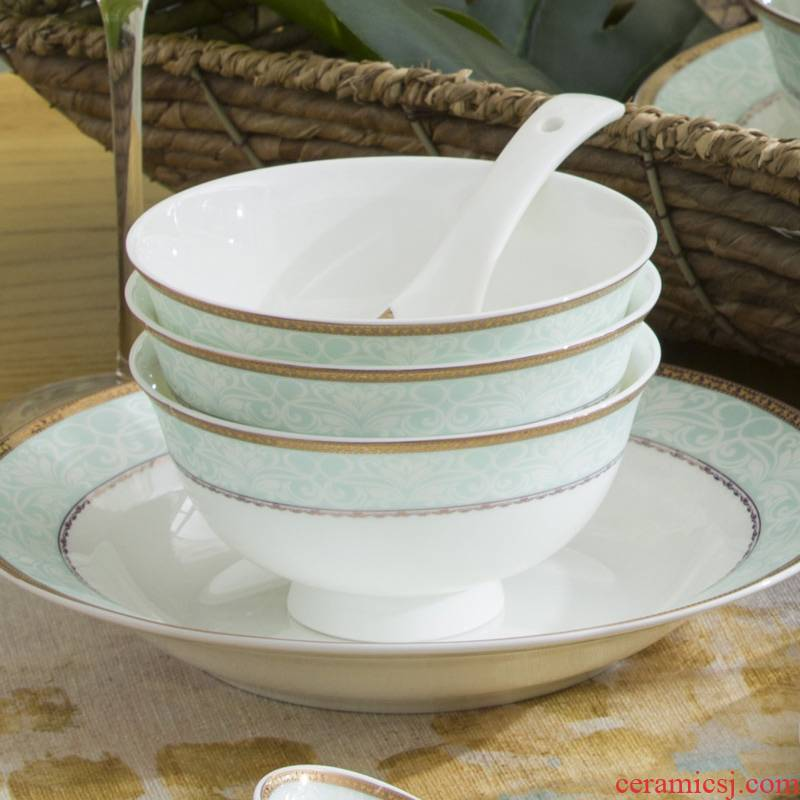 Ming litres of jingdezhen ceramic Chinese style household DIY collocation small bowl of rice bowls to eat rice bowl ipads China creative rainbow such use