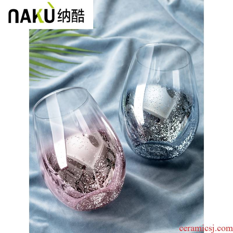 Cool ins wind gradients in the sky of a cup glass glass female household teacup creative web celebrity move trend