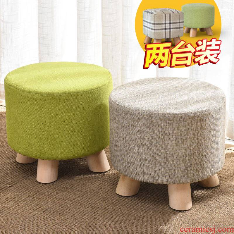 Who/buy one, get one real wood in shoes shoes who cloth art household small who sofa tea table bench stools