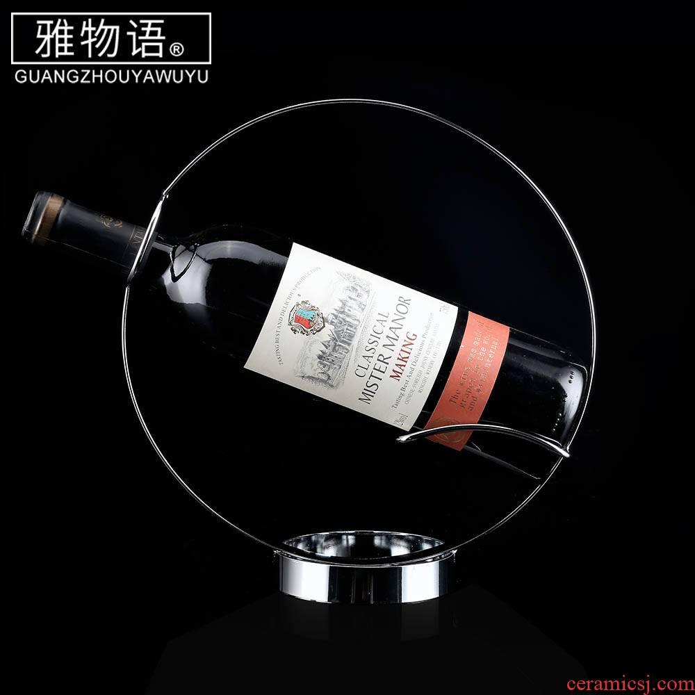 Jas monogatari round red wine rack furnishing articles creative wine display bottle home European wine rack