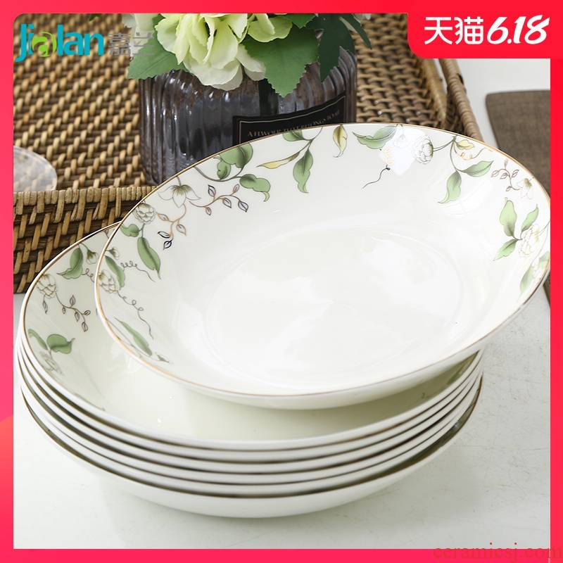 Garland creative ceramic plate dumpling soup plate Chinese style western - style food dish household ipads porcelain child 6 8 inch plates