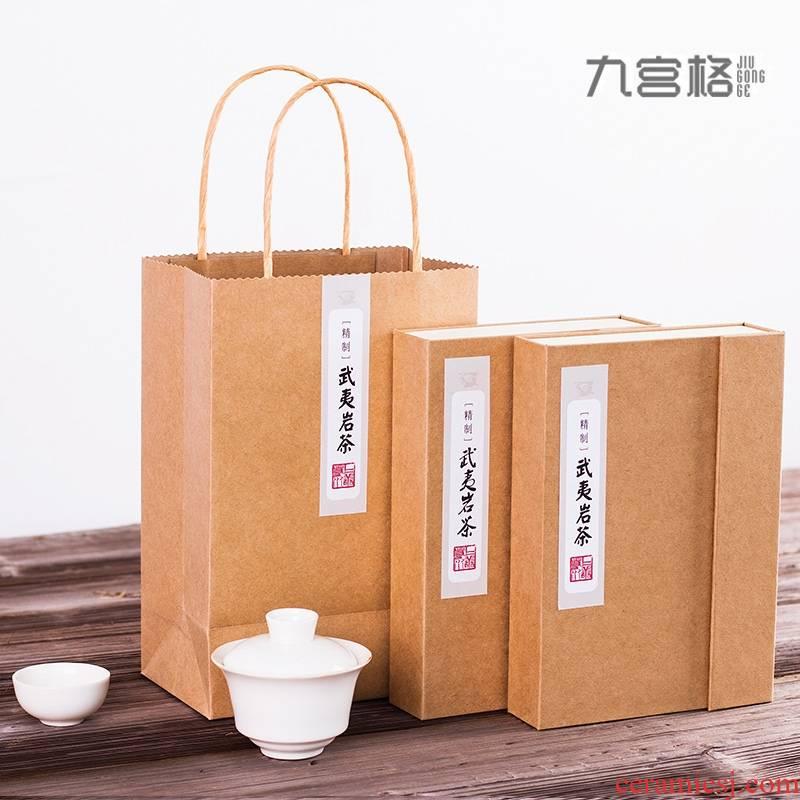 Creative private dahongpao tea general gift box the tea tieguanyin tea aneroid custom carton box rock tea