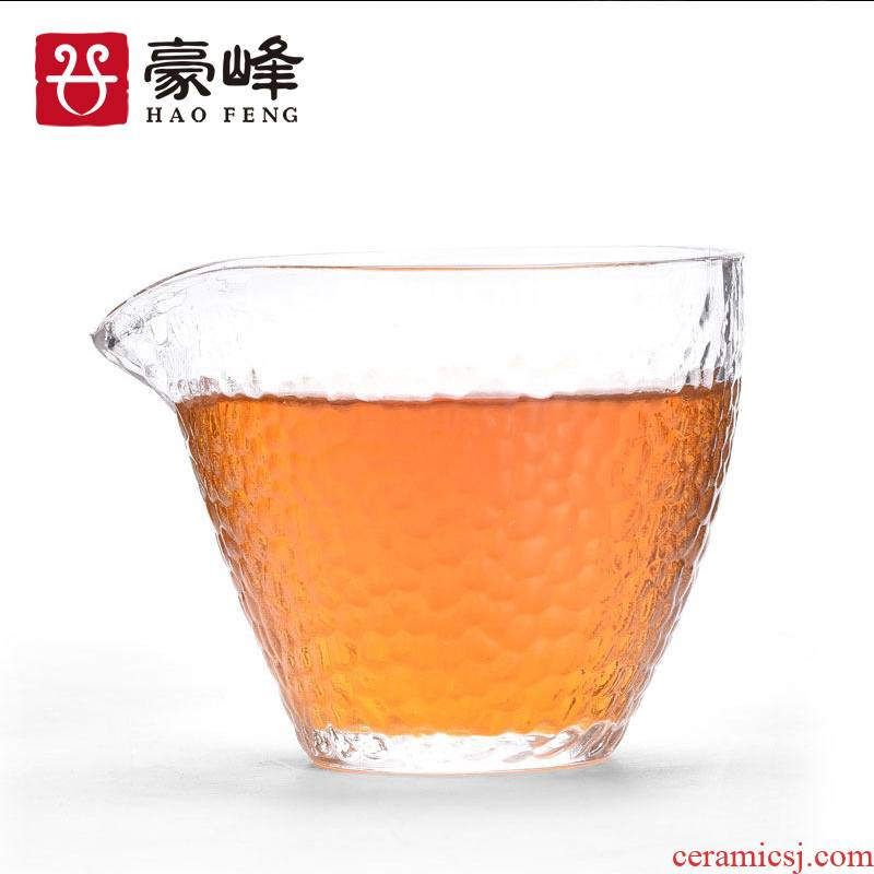HaoFeng heat just a cup of tea sea thickening hammer hammer glass glass kung fu tea tea service manual glass points