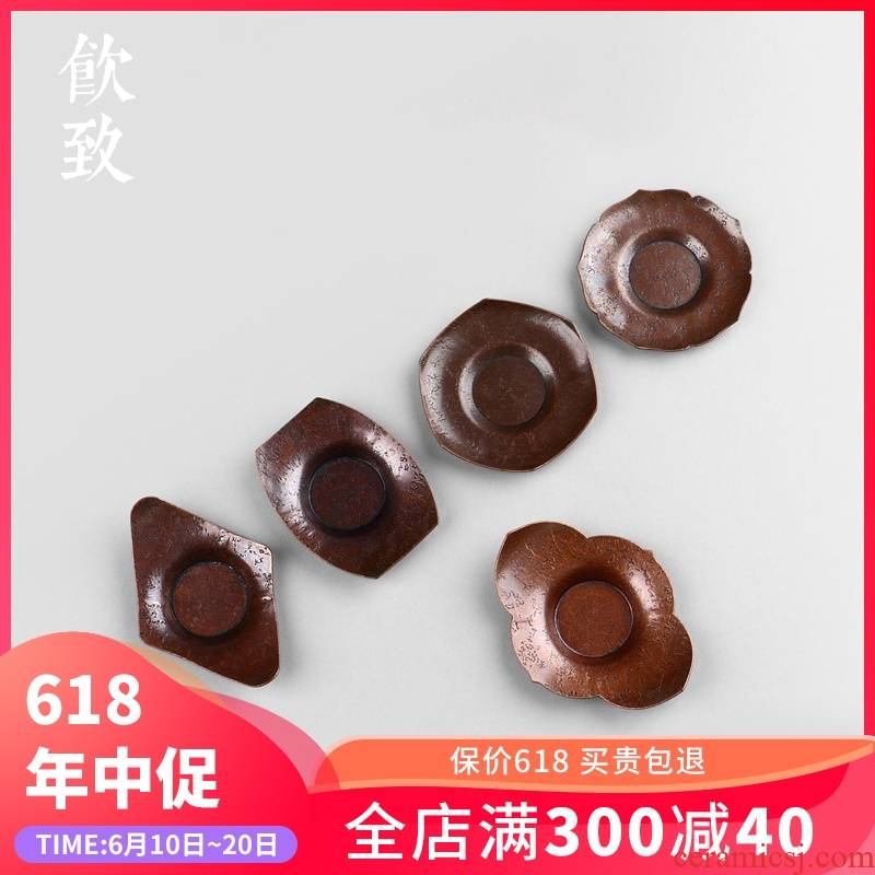 Ultimately responds pure copper cup mat copper cup insulation pot pad tea kungfu tea zen Japanese tea cups