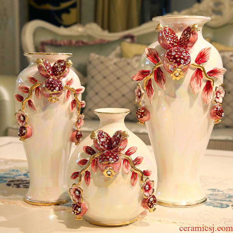 European vase furnishing articles ceramic simulation flowers sitting room suit creative household act the role ofing is tasted vase girlfriends wedding gift