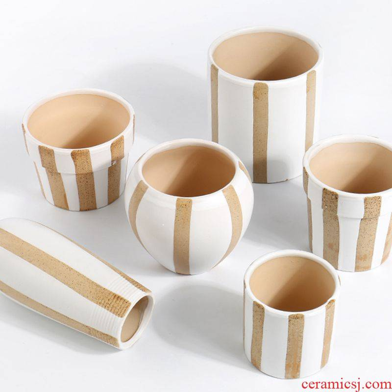Ins money plant dedicated much flesh POTS of creative move modern Scandinavian simplicity size old lovely ceramic POTS