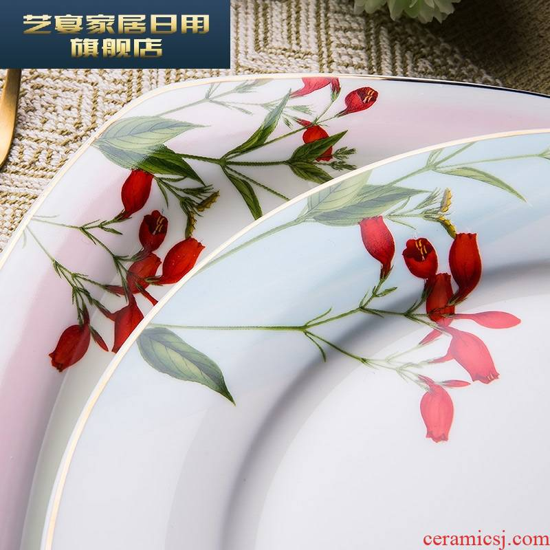 3 PLT ipads porcelain tableware dishes sets jingdezhen eat Chinese style household Korean rural ceramic bowl dish combination