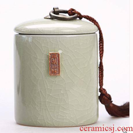 Storage tank celadon home tea caddy fixings large seal antiskid thickening portable Storage tanks