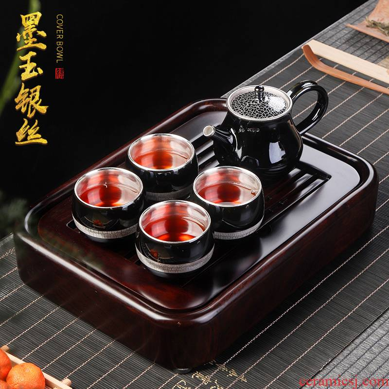 Artisan fairy coppering. As silver tea set to crack a pot of ceramic fourth office home portable travel tea set