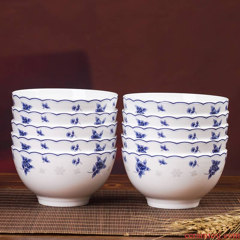 Association, longteng jingdezhen blue and white porcelain bowls ipads bowls a single job tall bowl of classic blue and white