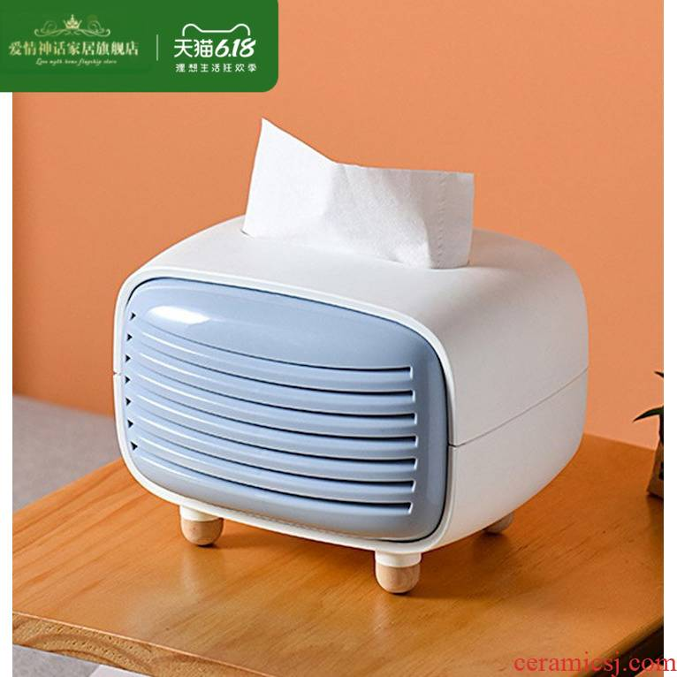 Living tissue box creative Nordic ins restaurant household smoke box furnishing articles tea table napkin receive a box