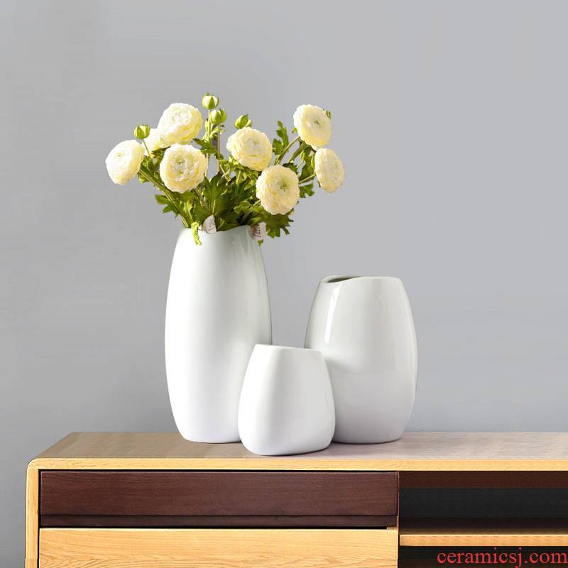 Vase furnishing articles flower arranging I and contracted sitting room European - style creative home decoration ceramic dried flowers floral floral outraged