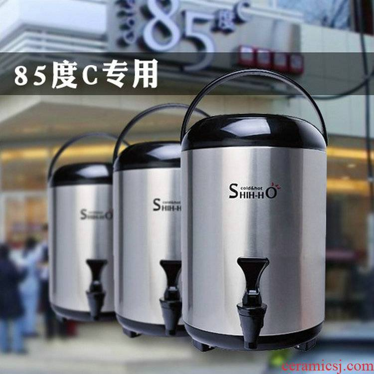 The New Taiwan great capacity of 304 stainless steel milk tea barrel 12 l heat insulation barrels double ltd. stalls restaurant