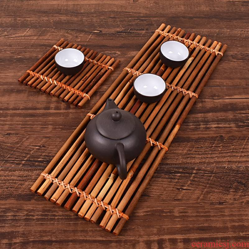 Small bamboo curtain bamboo has bamboo tea table tea tea set bamboo bamboo mat mat cup mat cup tea accessories