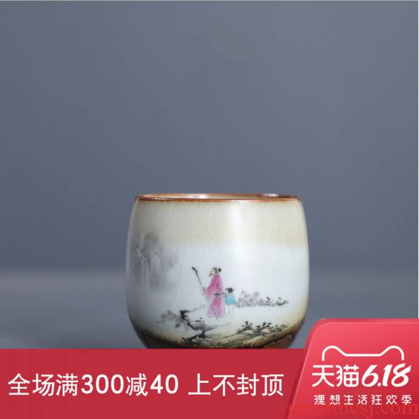 The Concept of new Chinese style your up hand - made outraged zen ceramic sample tea cup tea masters cup home, kung fu tea cups