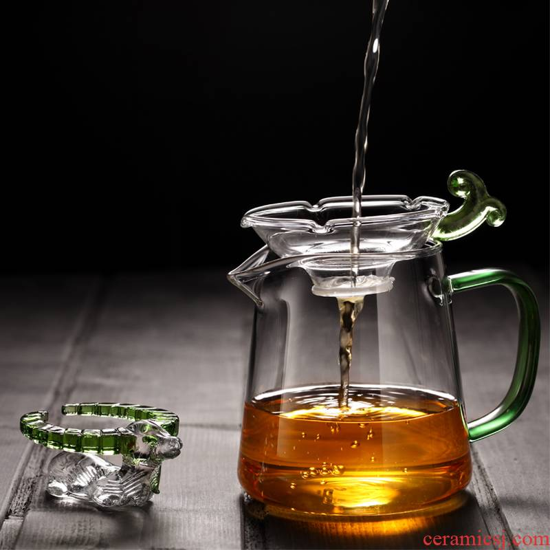 Morning high heat - resistant thickening glass fair keller of tea ware and a cup of tea kelp) suit kung fu tea tea set