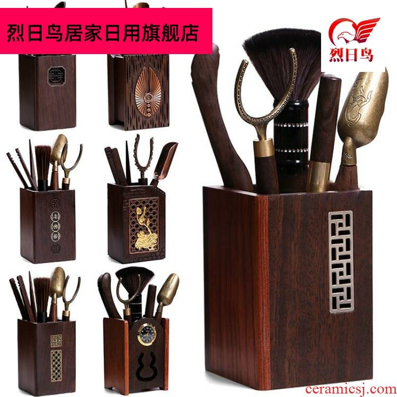Tea six gentleman 's suit kung fu Tea accessories ebony system receive tube home ChaGa teaspoons ChaZhen brush