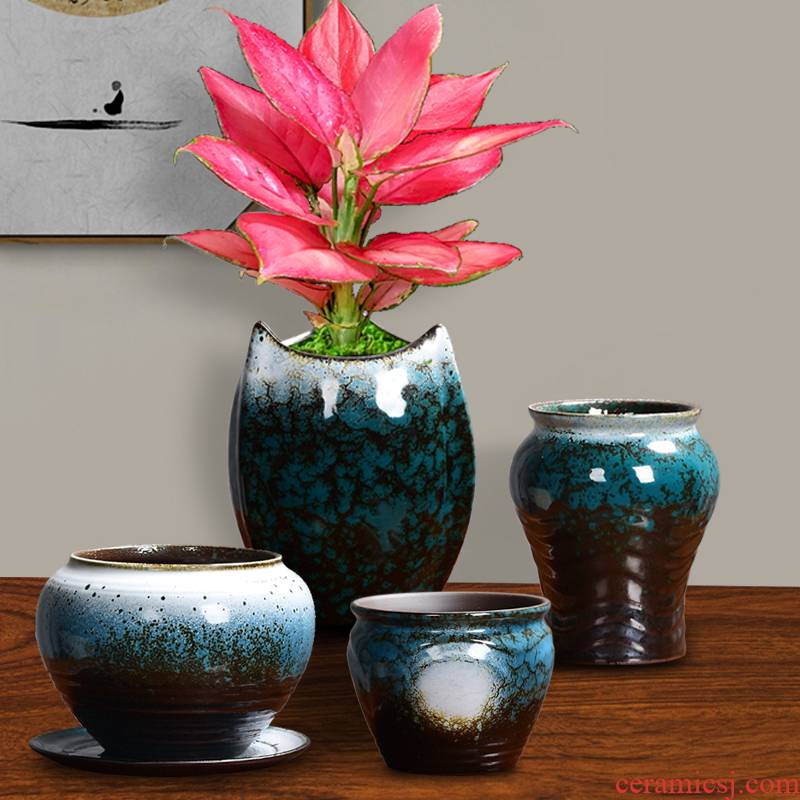 Ceramic green plant, small potted contracted creative move best red jasmine dedicated clove mage, fleshy flower POTS potted landscape