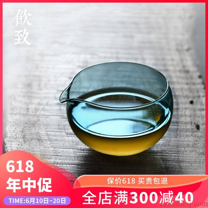 Ultimately responds to thickening glass fair keller creative manual transparent points tea male cup Japanese high - temperature tea set size