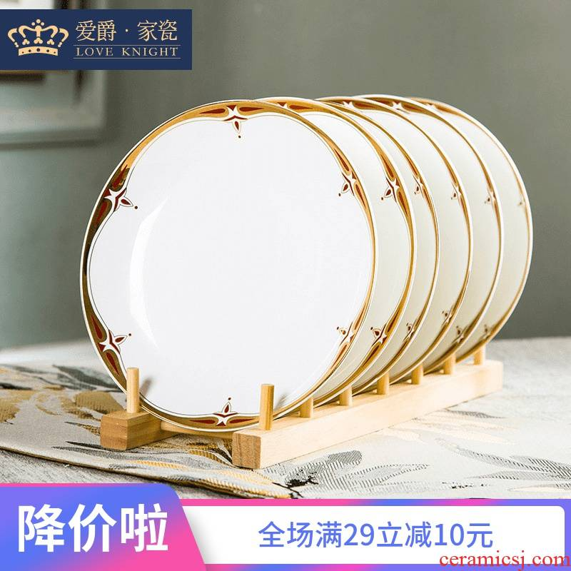 Jingdezhen 10 pack 】 【 ipads porcelain ceramic plate tableware suit dish plate 8 inches deep dish dish dish soup
