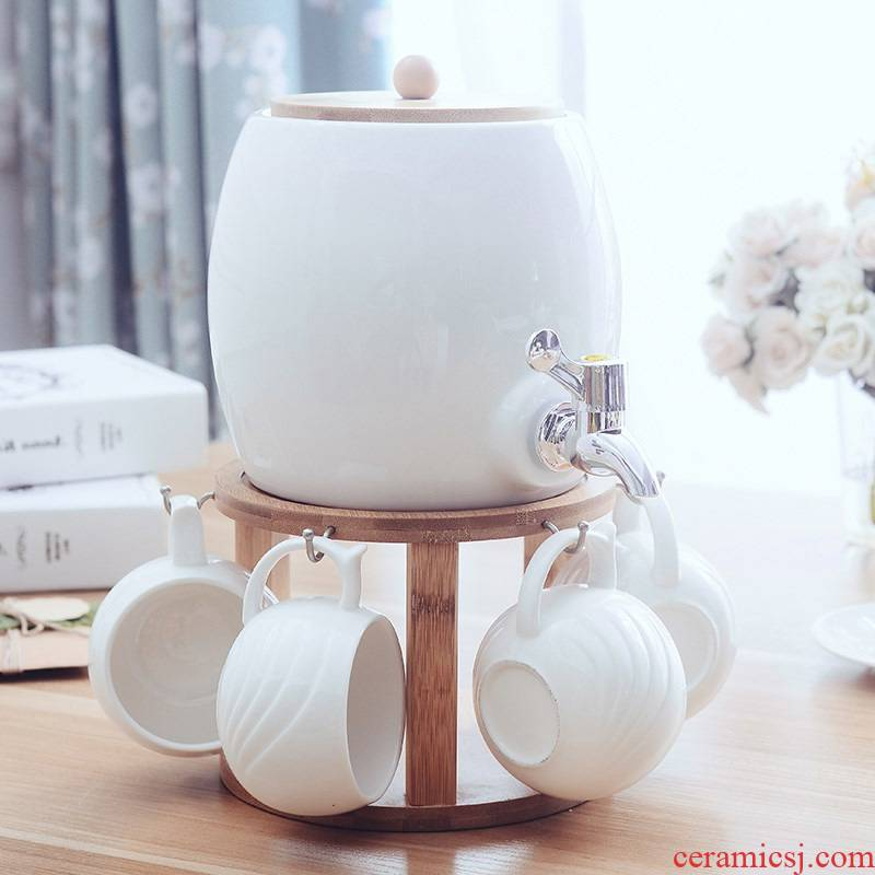 The Nordic idea cool suit household ceramic cup cold water kettle with leading high temperature resistant glass of water with The sitting room