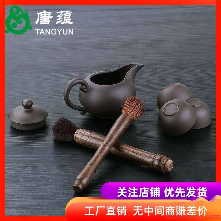 YangHuBi kung fu tea set brushes silica gel plastic tea anti - triad tan hua limu tea tray brush spare parts for the tea taking