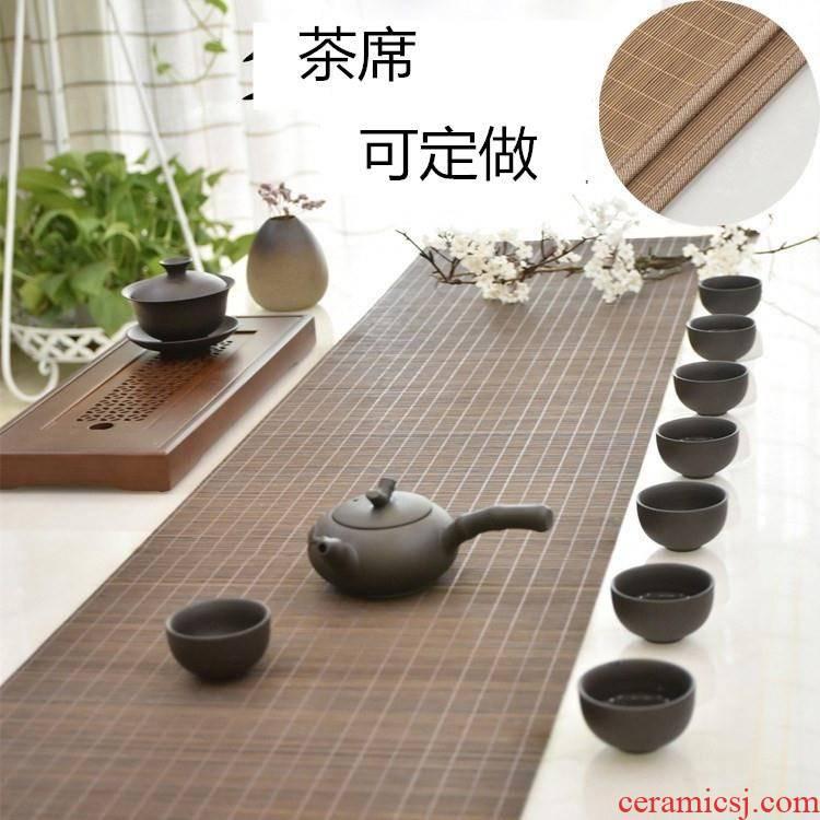 Bamboo mat light tea table decorations were accessories customized tea table flag mat Bamboo mat dresser