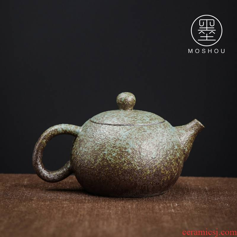 Restoring ancient ways by Japanese side teapot coarse ceramic tea set suit household contracted tea zen ceramic pot