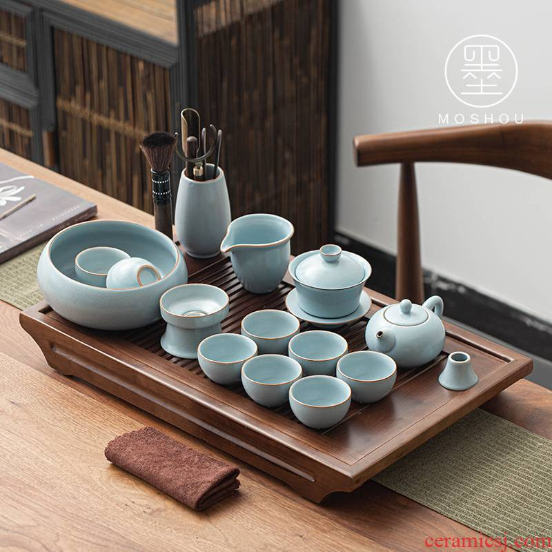 Stick your up authentic tea set kung fu tea set household fair tea pot cup your porcelain of a complete set of tea cups