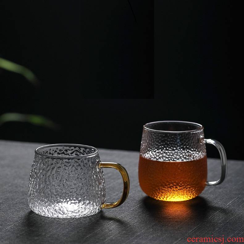 """Men and women """"bringing home the cup hammer glass high - temperature glass Japanese contracted handle glass cup upset"""