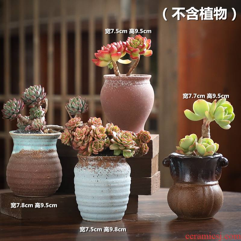 The Fleshy old running the flowerpot ceramic special offer a clearance package mailed to restore ancient ways coarse pottery breathable large - diameter creative move and old basin