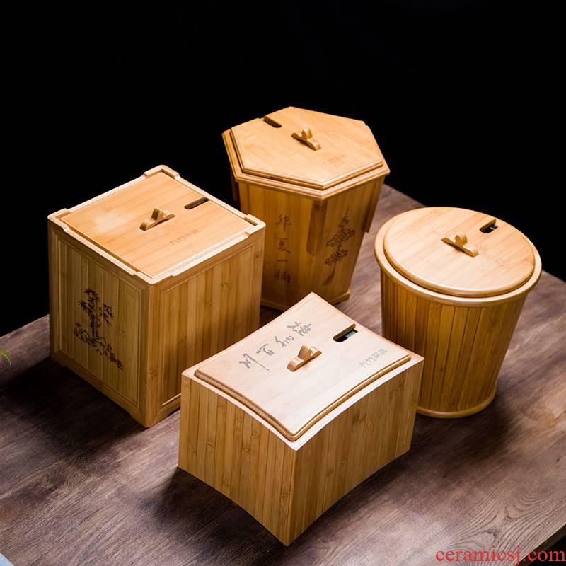 Hot tea barrel bamboo barrels of tea sets tea tray after water storage barrel large - sized kung fu tea accessories waste bin