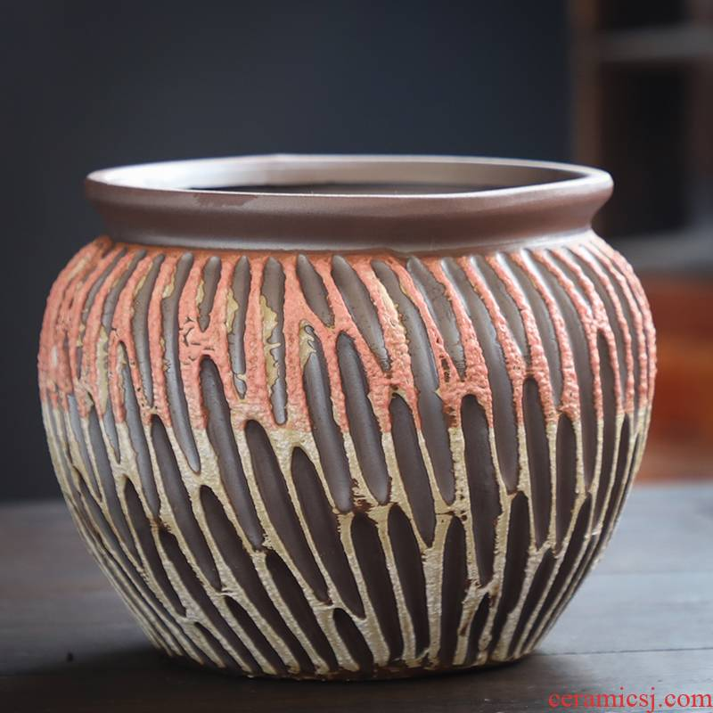 Fleshy flowerpot ceramic sale of large diameter violet arenaceous air clearance old running extra large meat meat plant package mail