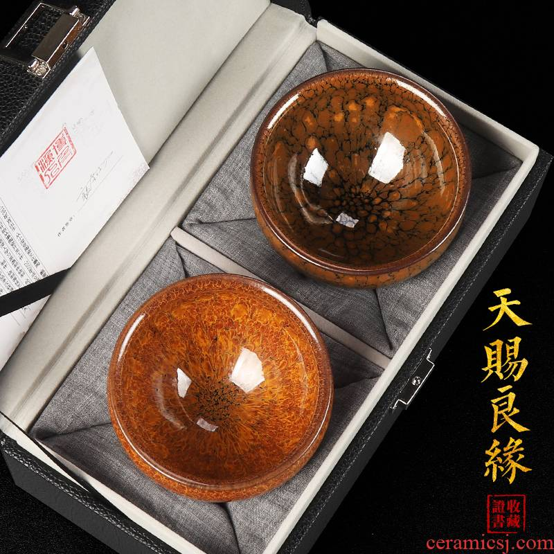 Artisan fairy famous building light for CPU firewood lamp cup master cup partridge spot pure manual kung fu tea cup tire iron
