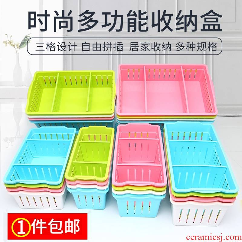 The File cover jewelry box thanks small rectangular plastic tableware receive basket case classification box to their boxes, hollow out