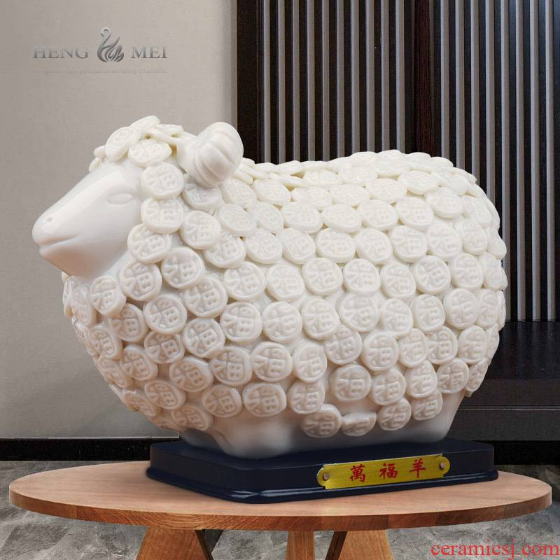 Ave a goat ceramics handicraft sitting room office furnishing articles creative lucky feng shui and home decoration decoration