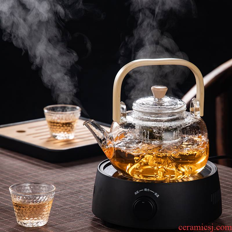 Glass girder cooking pot electric burn blisters TaoLu white tea health special - purpose boiled tea teapot steamer furnace suit household