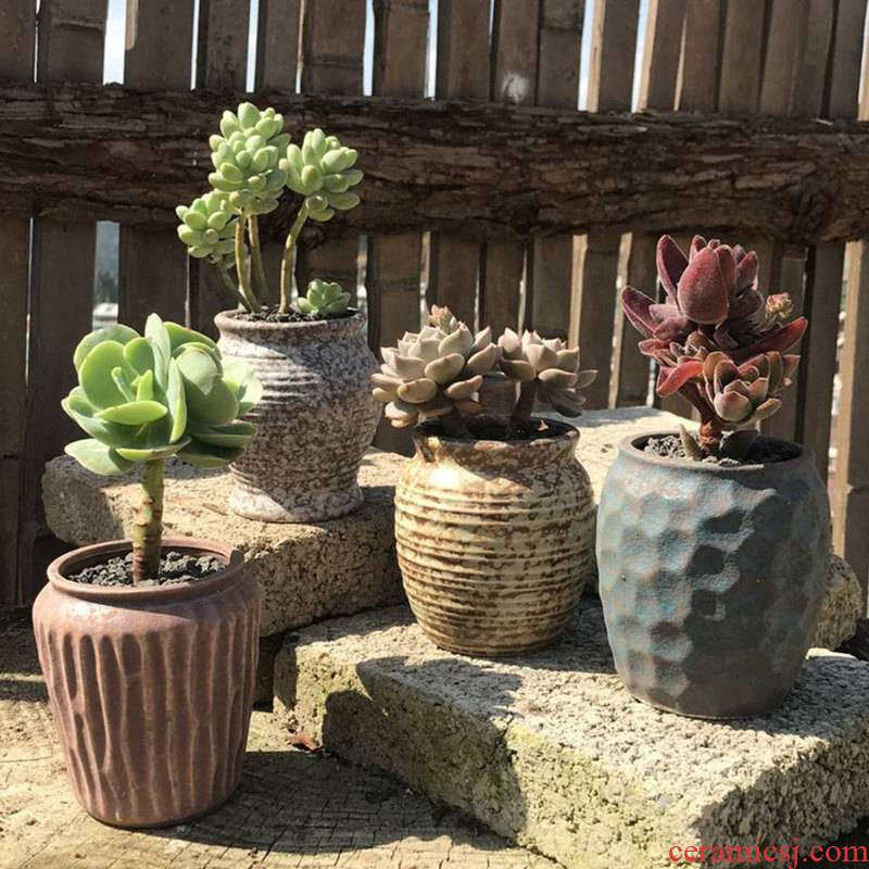 Old running the flowerpot restoring ancient ways of creative move coarse pottery breathable meat meat plant special offer a clearance indoor small fleshy flower pot