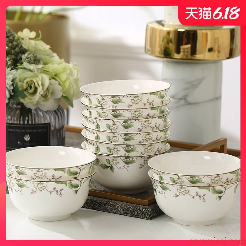 Garland ipads porcelain tableware customize champs elysees northern wind household rice bowls bowl dish plate spoon