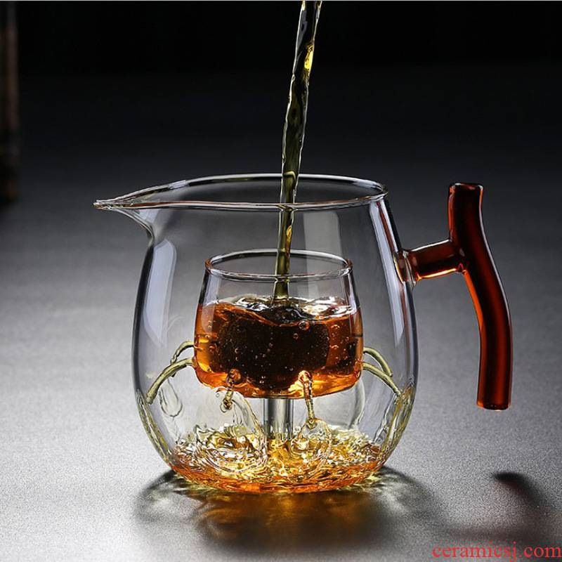 Electric TaoLu dedicated the explosion - proof who was orange teapot heat resistant high temperature boiling tea fair glass cup tea stove home cooking