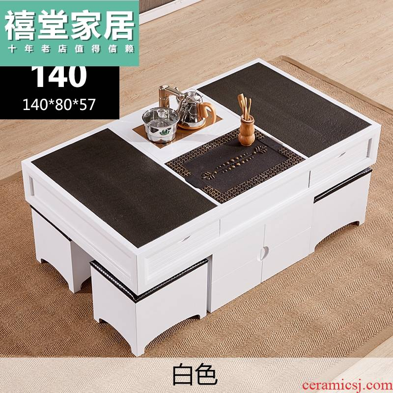 I and contracted fire Nordic marble stone kung fu tea table multifunctional sitting room tea tea table of office desks and chairs