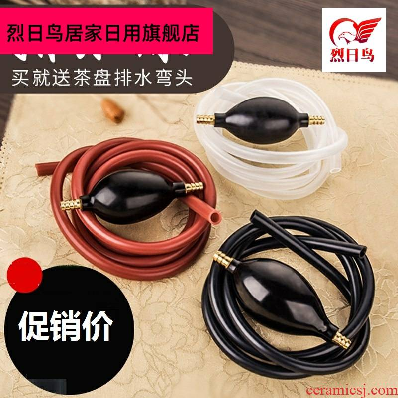 Hot tea number big teapot copper to be wastewater tank drain bucket of tapping tea tea tray was drain out tapping ShuiGuanZi inhale