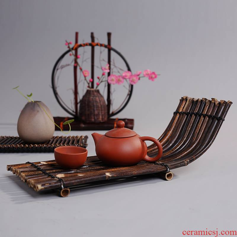 T a raft cup mat pot holder, zen dry terms Taiwan tea tray tea tea accessories receive cup base retro place other people
