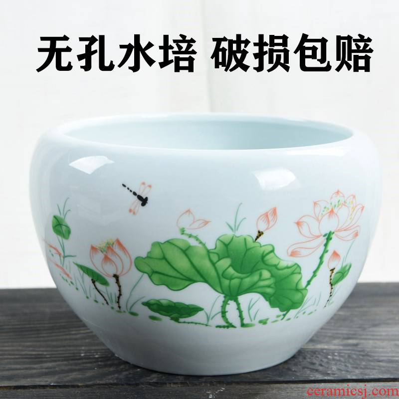 Copper grass hydroponic flower POTS of money grass special ceramic large clearance contracted daffodil water raise lotus bowl lotus leaf