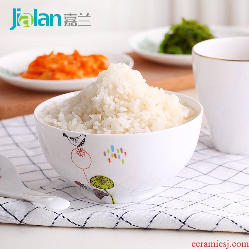 Garland ipads China rainbow such as bowl 6 inches practical large capacity rice bowls of soup porridge creative salad vegetables household ceramic bowl