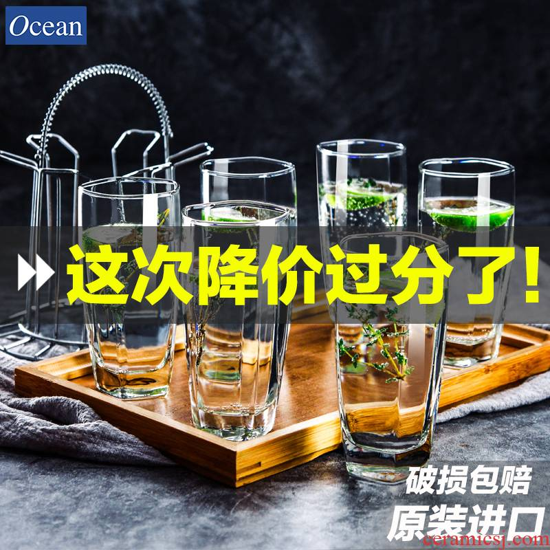 Ocean import glass set 6 pack home without cover heat ultimately responds a cup of tea cups milk cup of fruit juice cup