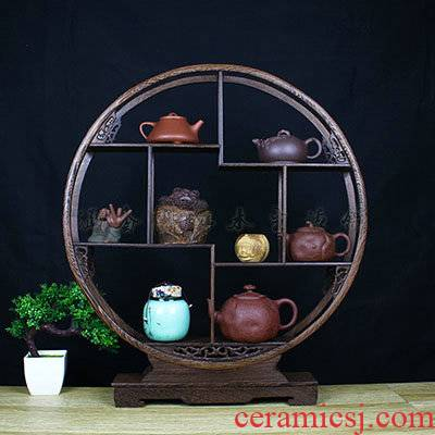 T the teapot teacup tea pet receive frame display little rich ancient frame tea tea tea much bao ge spare parts